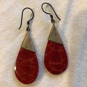 Bohemian red earrings